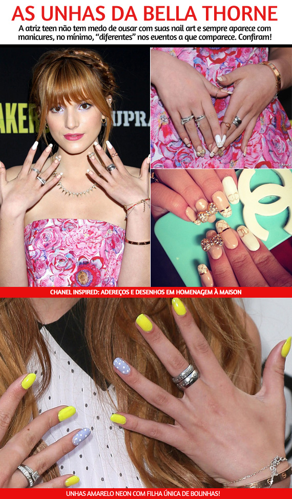 As unhas da Bella Thorne!