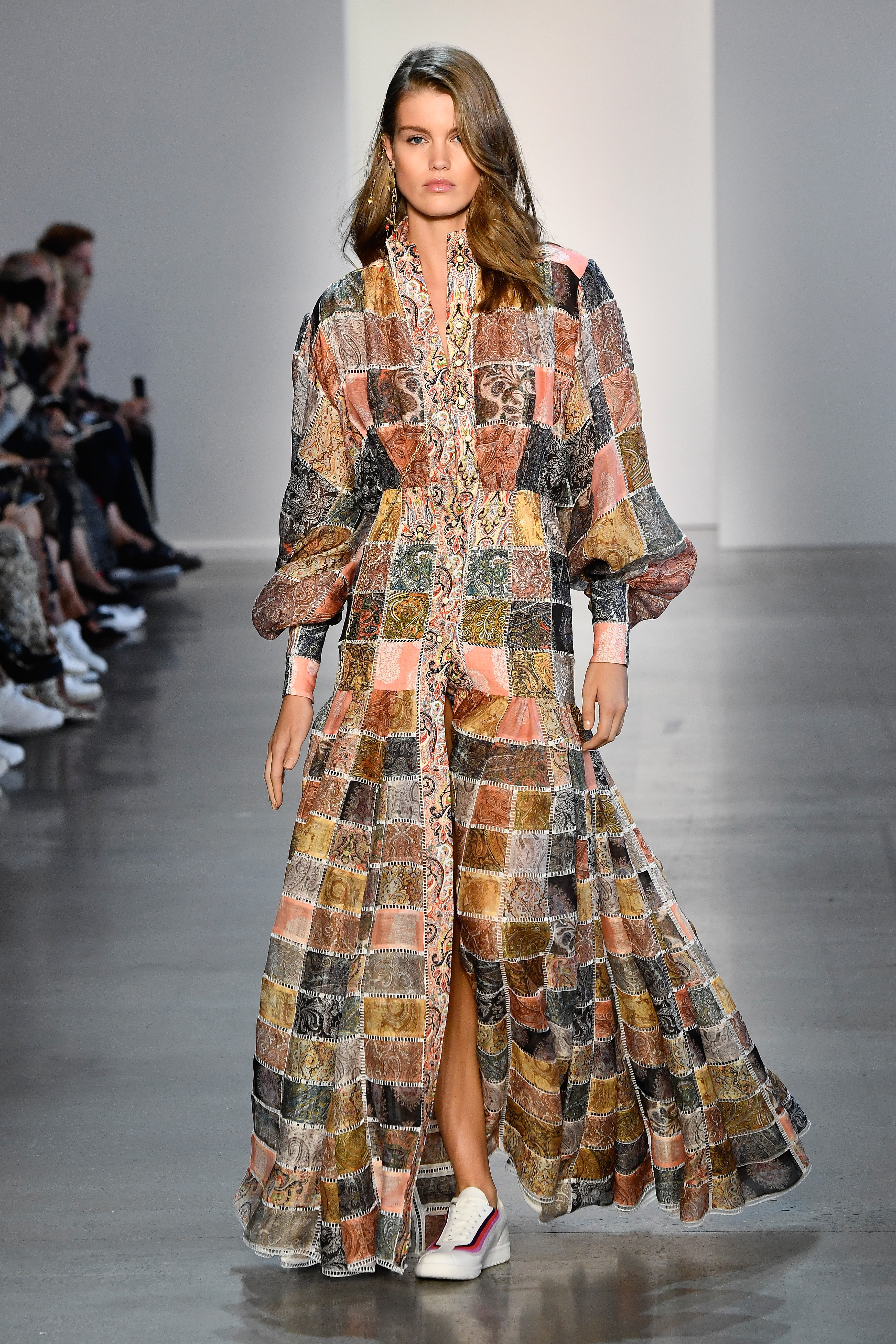 NEW YORK, NY - SEPTEMBER 10:  A model walks the runway for Zimmermann during New York Fashion Week: The Shows at Gallery I at Spring Studios on September 10, 2018 in New York City.  (Photo by Frazer Harrison/Getty Images for NYFW: The Shows)