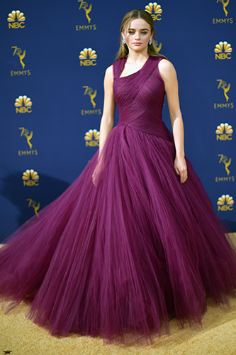 LOS ANGELES, CA - SEPTEMBER 17: Joey King attends the 70th Emmy Awards at Microsoft Theater on September 17, 2018 in Los Angeles, California.  (Photo by Matt Winkelmeyer/Getty Images)
