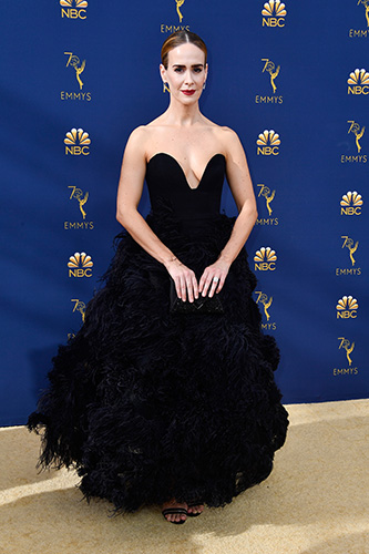 LOS ANGELES, CA - SEPTEMBER 17:  Sarah Paulson attends the 70th Emmy Awards at Microsoft Theater on September 17, 2018 in Los Angeles, California.  (Photo by Frazer Harrison/Getty Images)