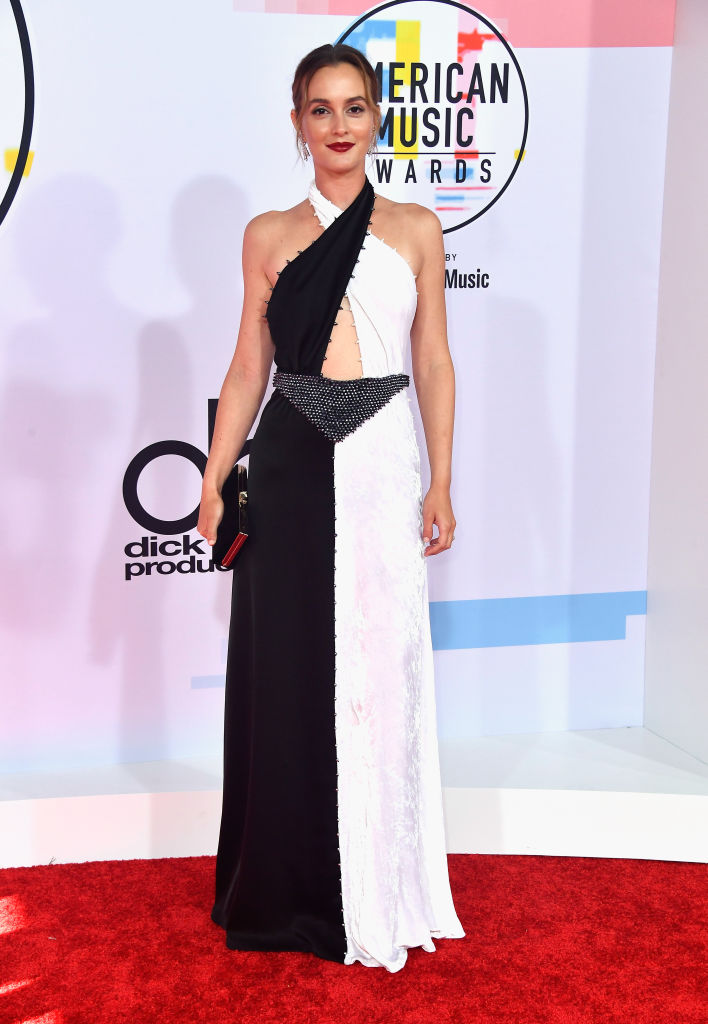 LOS ANGELES, CA - OCTOBER 09:  Leighton Meester attends the 2018 American Music Awards at Microsoft Theater on October 9, 2018 in Los Angeles, California.  (Photo by Frazer Harrison/Getty Images)