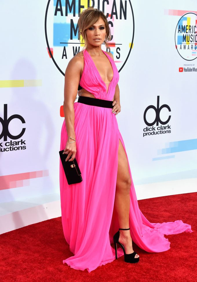 LOS ANGELES, CA - OCTOBER 09:  Jennifer Lopez attends the 2018 American Music Awards at Microsoft Theater on October 9, 2018 in Los Angeles, California.  (Photo by Frazer Harrison/Getty Images)
