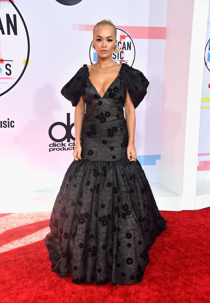 LOS ANGELES, CA - OCTOBER 09:  Rita Ora attends the 2018 American Music Awards at Microsoft Theater on October 9, 2018 in Los Angeles, California.  (Photo by Frazer Harrison/Getty Images)