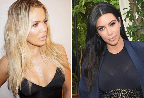 kim-khloe-waves-hair