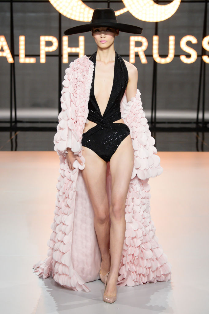 PARIS, FRANCE - JANUARY 21: A model walks the runway during the Ralph & Russo Spring Summer 2019 show as part of Paris Fashion Week on January 21, 2019 in Paris, France. (Photo by Francois Durand/Getty Images)