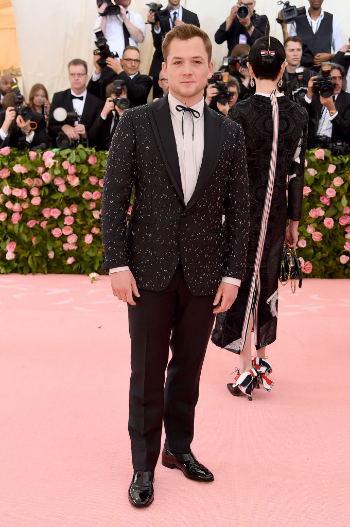 NEW YORK, NEW YORK - MAY 06: Taron Egerton attends The 2019 Met Gala Celebrating Camp: Notes on Fashion at Metropolitan Museum of Art on May 06, 2019 in New York City. (Photo by Jamie McCarthy/Getty Images)