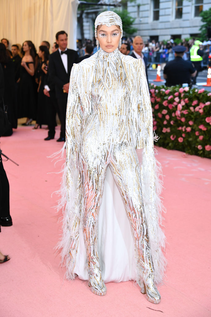 NEW YORK, NEW YORK - MAY 06: Gigi Hadid attends The 2019 Met Gala Celebrating Camp: Notes on Fashion at Metropolitan Museum of Art on May 06, 2019 in New York City. (Photo by Dimitrios Kambouris/Getty Images for The Met Museum/Vogue)