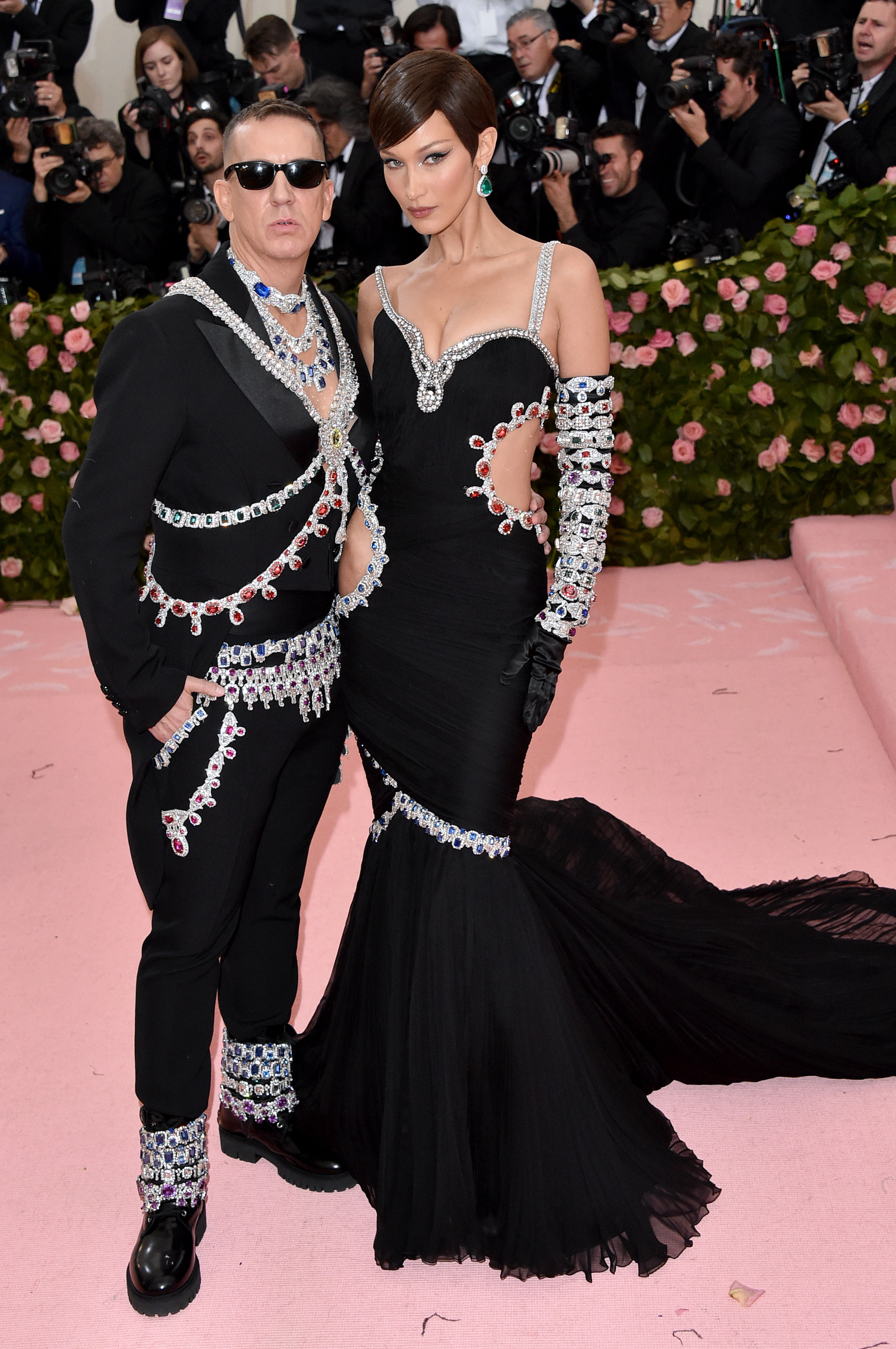 NEW YORK, NEW YORK - MAY 06: Bella Hadid and Jeremy Scott attend The 2019 Met Gala Celebrating Camp: Notes on Fashion at Metropolitan Museum of Art on May 06, 2019 in New York City. (Photo by John Shearer/Getty Images for THR)