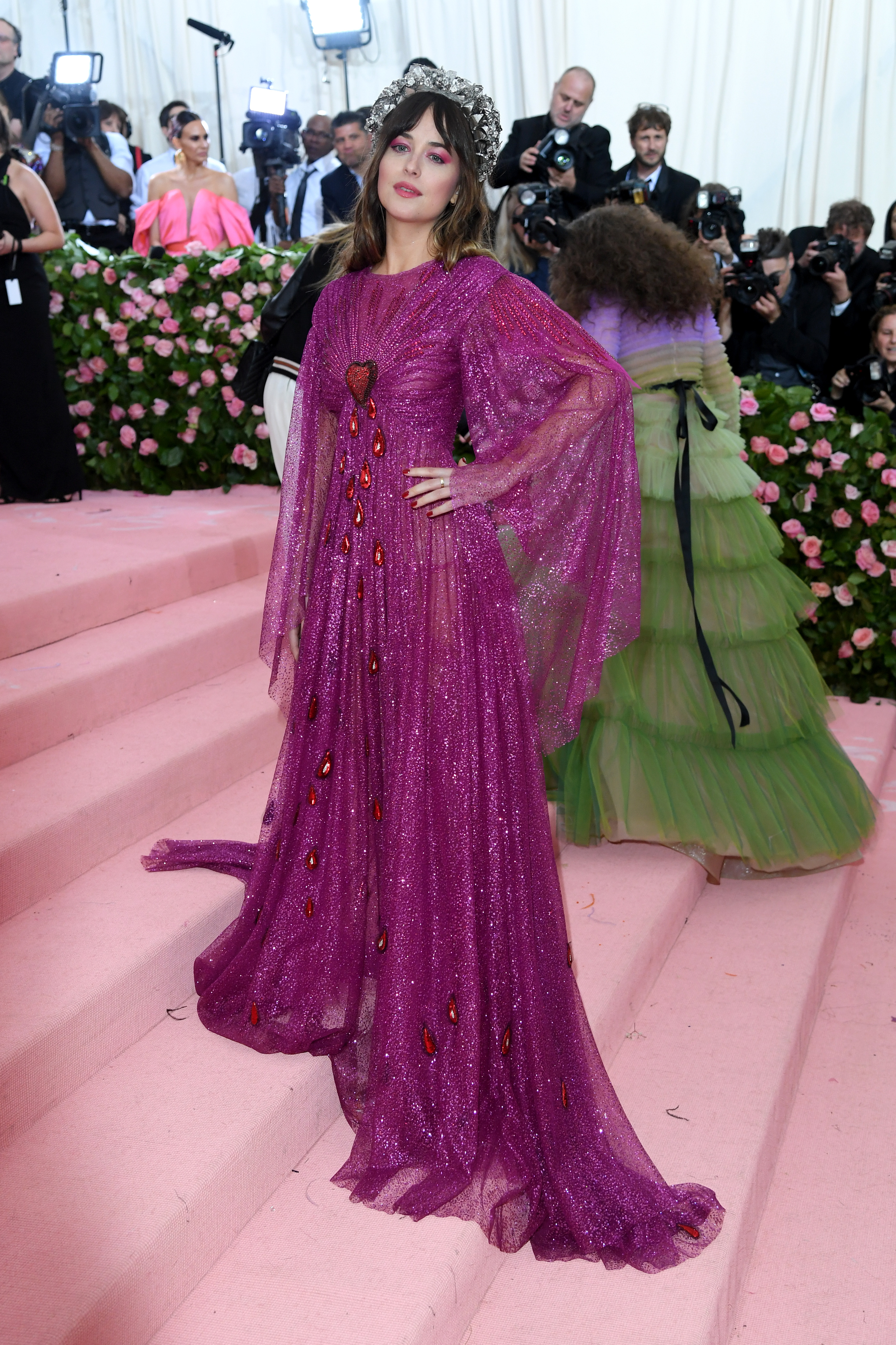 NEW YORK, NEW YORK - MAY 06: Dakota Johnson attends The 2019 Met Gala Celebrating Camp: Notes On Fashion at The Metropolitan Museum of Art on May 06, 2019 in New York City. (Photo by Karwai Tang/WireImage )