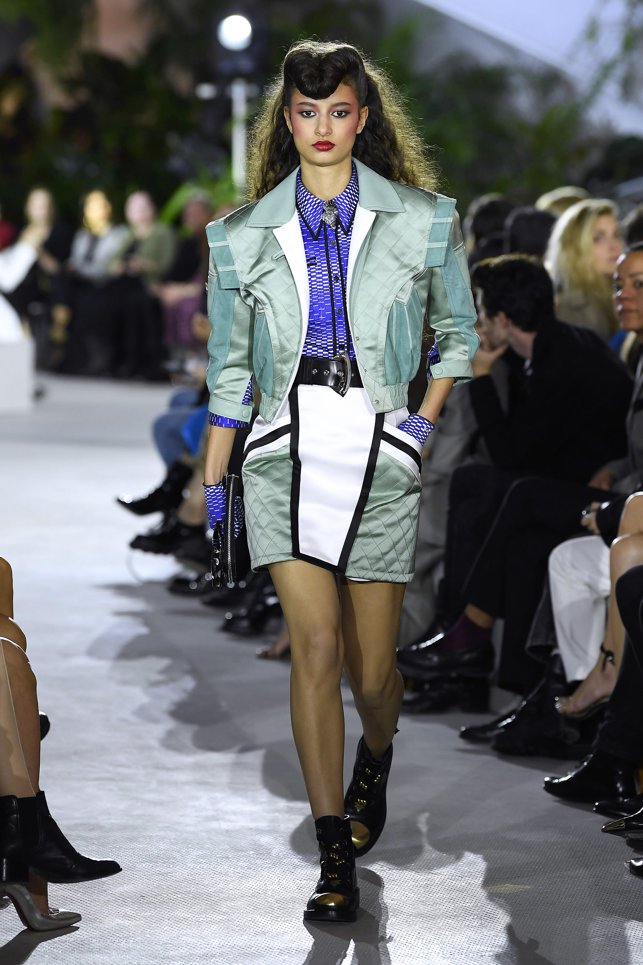 NEW YORK, NY – MAY 08: A model walks the runway during Louis Vuitton Cruise 2020 on May 8, 2019 in New York, USA. (Photo by Estrop/WireImage)