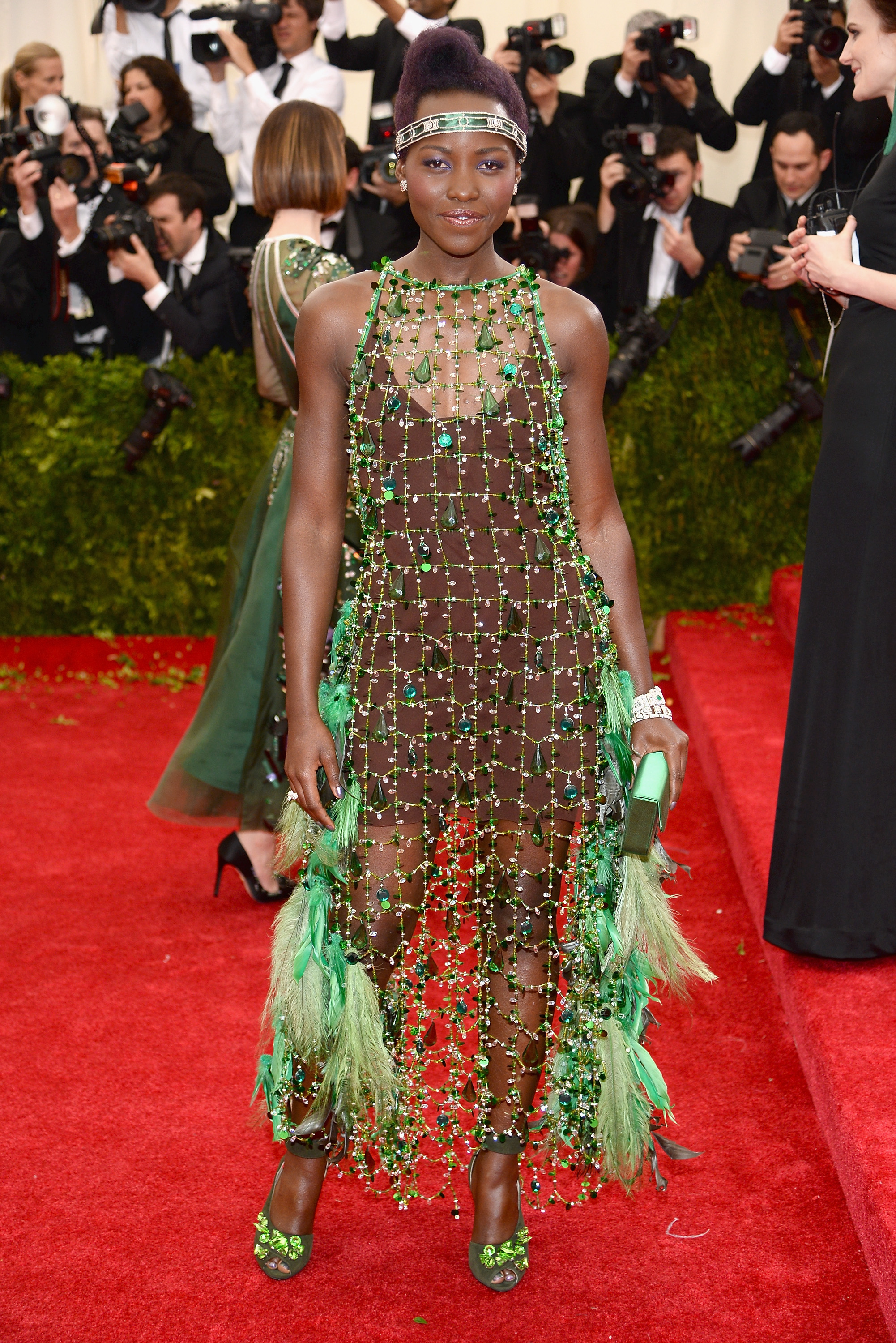"NEW YORK, NY - MAY 05:  Lupita Nyong'o attends the ""Charles James: Beyond Fashion"" Costume Institute Gala at the Metropolitan Museum of Art on May 5, 2014 in New York City.  (Photo by Dimitrios Kambouris/Getty Images)"