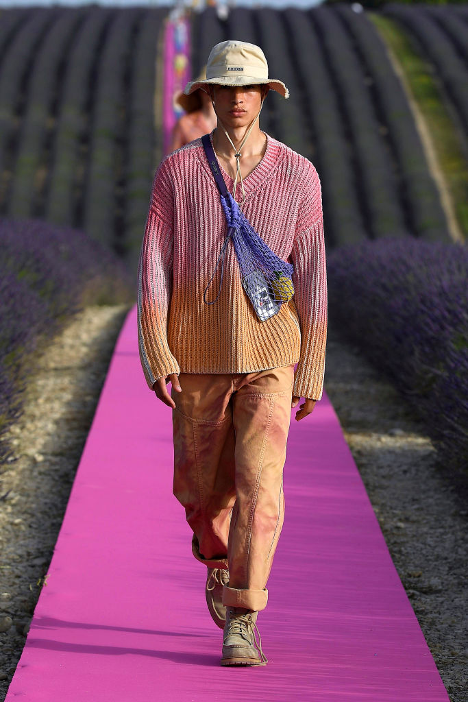 VALENSOLE, FRANCE - JUNE 24: A model walks the runway at the Jacquemus Menswear  Spring/Summer 2020 show on June 24, 2019 in Valensole, France. (Photo by Estrop/Getty Images
