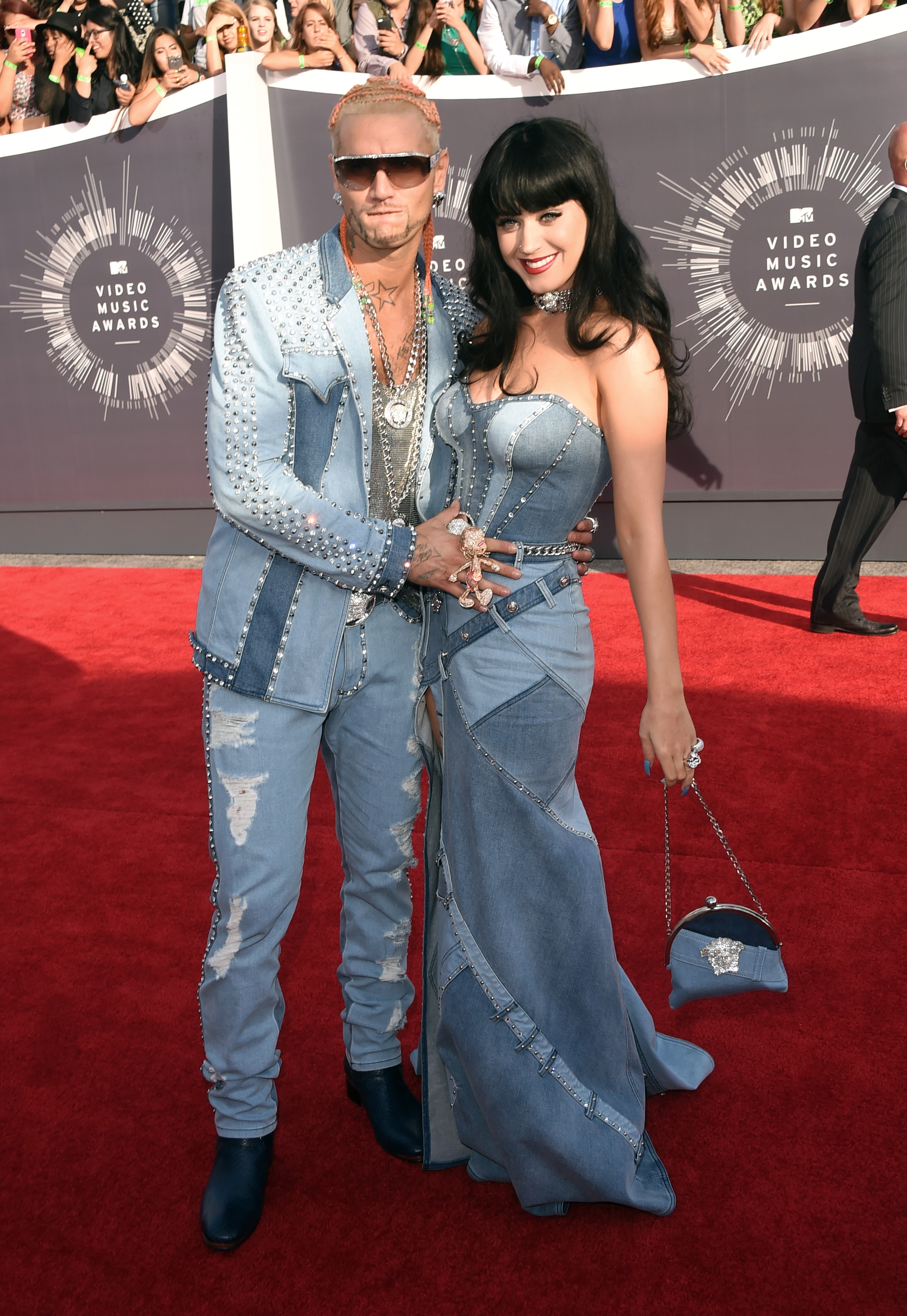 INGLEWOOD, CA - AUGUST 24:  Rapper Riff Raff (L) and singer Katy Perry attend the 2014 MTV Video Music Awards at The Forum on August 24, 2014 in Inglewood, California.  (Photo by Jason Merritt/Getty Images for MTV)